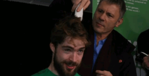 Bruce shaves