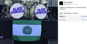Black Sabbath homenagem a Chapecoense