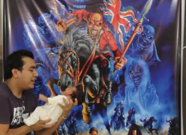 Pai do bebê Iron Maiden explica decisão do nome