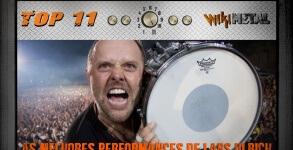Top 11 Performances de Lars Ulrich