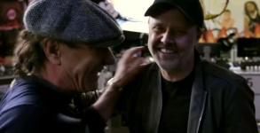 Brian Johnson and Lars Ulrich