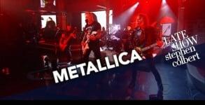 Metallica toca no programa Late Show