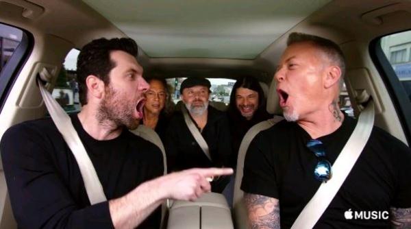 Metallica canta Pequena Sereia em novo teaser do Carpool Karaoke