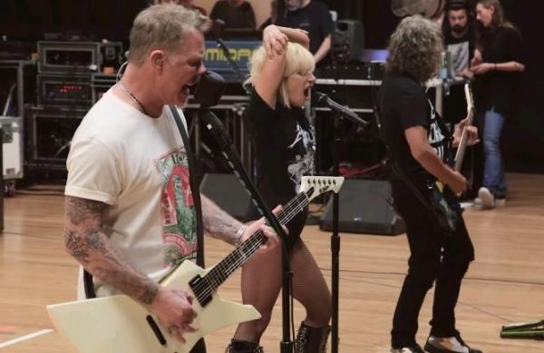 Vídeo do ensaio do Metallica com Lady Gaga