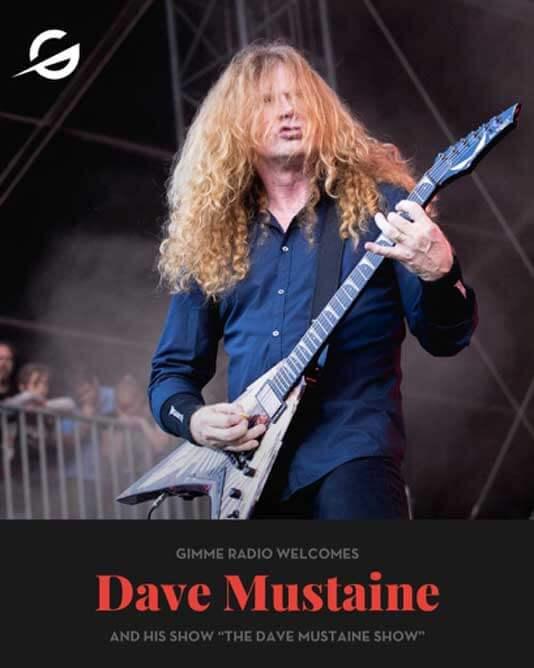 Resultado de imagem para Dave Mustaine terá programa na Gimme Radio