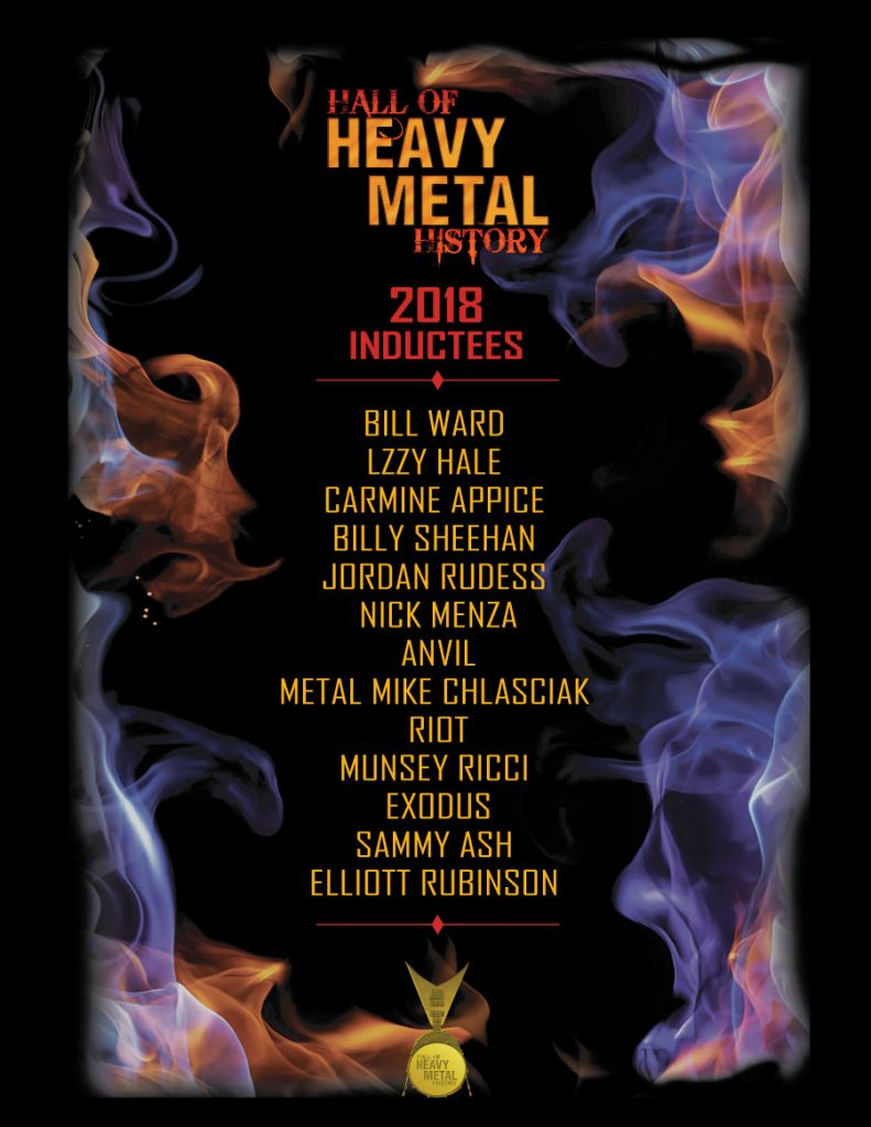 Hall Of Heavy Metal History 2018