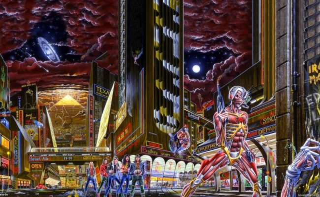 As referências escondidas na capa do Somewhere In Time do Iron Maiden