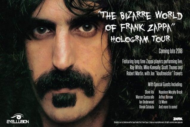Resultado de imagem para Holograma de Frank Zappa fará shows em 2018