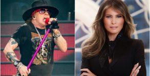 Axl Rose afirma que a Primeira Dama dos EUA, Melania Trump, é uma ex-prostituta