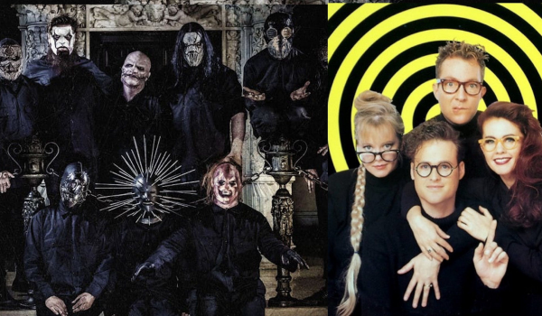 "Slipknot e B-52s: ouça o bizarro mashup de ""Before I Forget"" e ""Love Shack"""