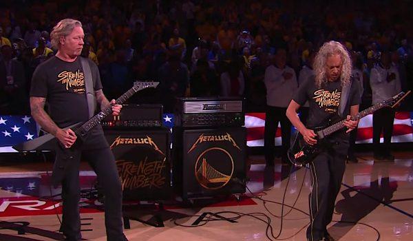 Metallica toca hino nacional dos EUA na final da NBA; assista