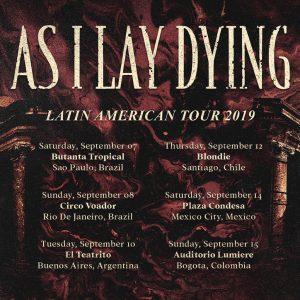 As I Lay Dying turnê