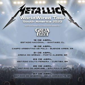Metallica divulga shows no Brasil